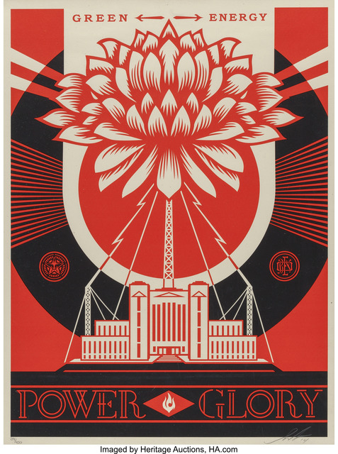 Shepard Fairey (OBEY), 'Green Power Print', 2014, Heritage Auctions