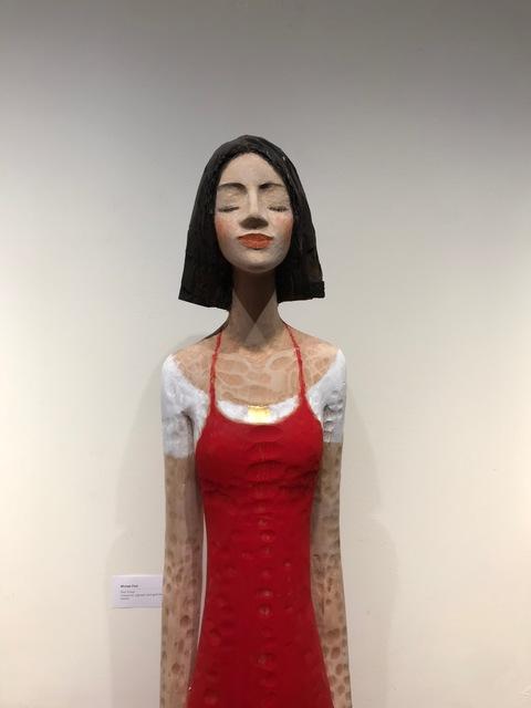 , 'Red Dress (detail,' 2018, Alan Kluckow Fine Art