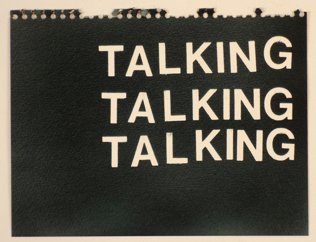 , 'Talking Talking Talking (black),' , Rodolphe Janssen