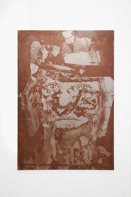 Vhils, 'Crack Series #05', 2020, Sculpture, Acid - etched metal plate, MAGMA gallery