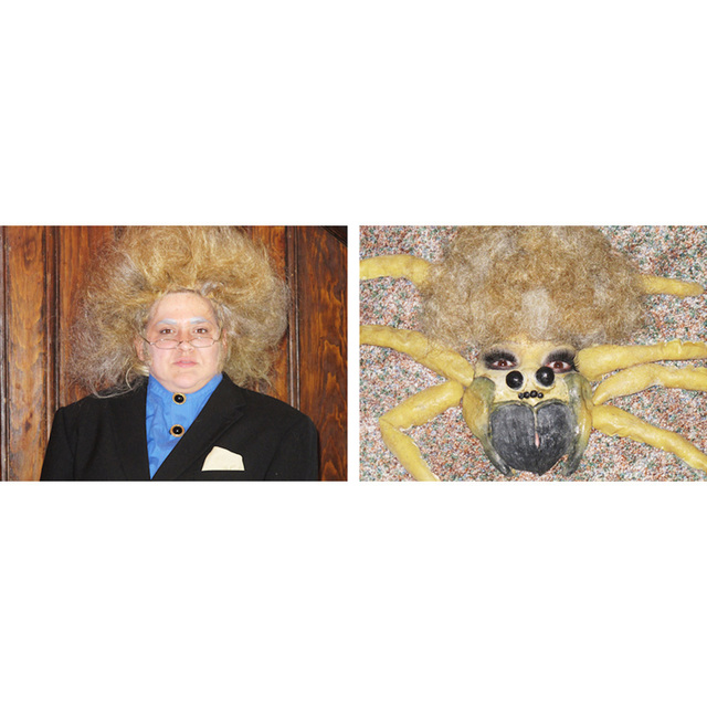 , ' Self-portrait as Phil Spector/Self-portrait as This Spider in Phil Spector Totally Looks Like This Spider by PrincessStinkFluff ,' 2012, Adam Parker Smith