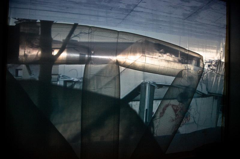 """Monika Rechsteiner, """"real estate"""", installation with pneumatic objecs and video, 2012   image: Monika Rechsteiner"""