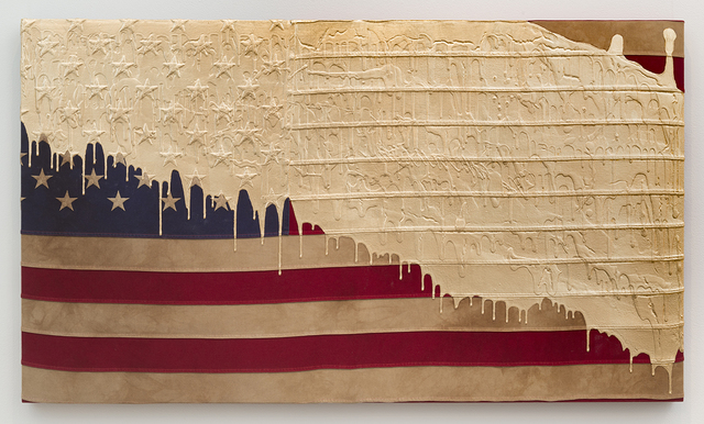 , 'Weathered Flag (Gold Dip),' 2016, Joshua Liner Gallery