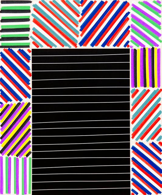 , 'The Elegant Mess (Black Bars),' 2016, Newzones