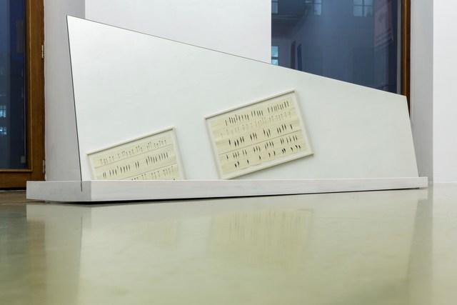 Carola Dertnig, 'Da guckte ich uns an und dachte wir sind eigentlich wie gemacht füreinander', 2020, Installation, Wood and mirror, Galerie Crone