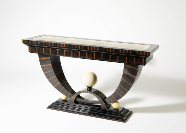 , 'Macassar Ebony Console with Onyx Spheres,' ca. 2010, Manfredi Style