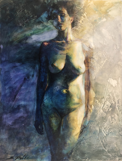 Steven DaLuz, 'Blue Nude', 2019, Painting, Acrylic inks/mixed media on panel, 33 Contemporary