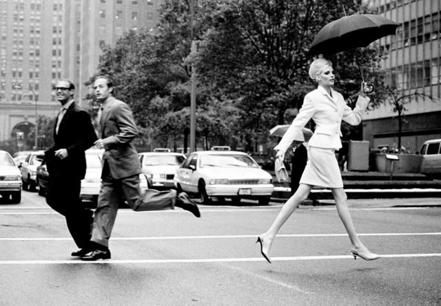 , 'Nadja Crossing Park Ave., New York, American Vogue,' 1995, Holden Luntz Gallery