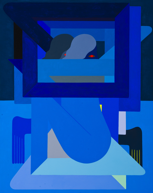 , 'Double Figure, (Blue),' 2018, V1 Gallery