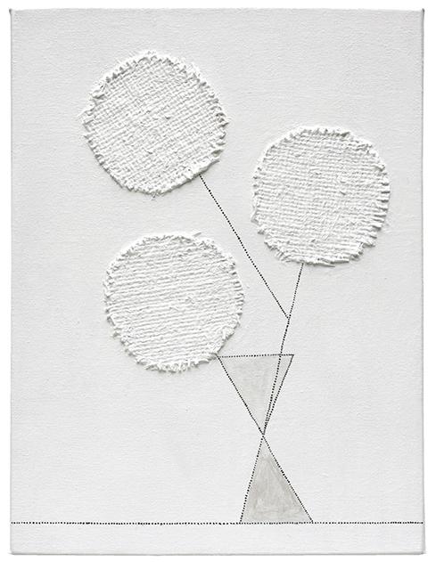 , 'three round flowers,' 2015, Craig Krull Gallery