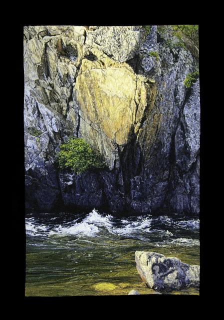 Carol Shinn, 'Canyon River', 2021, Textile Arts, Embroidery, Duane Reed Gallery