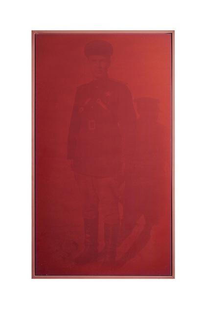 """, 'Da série vermelha """"Militares"""",' 2000, Lemos de Sá Galeria"""