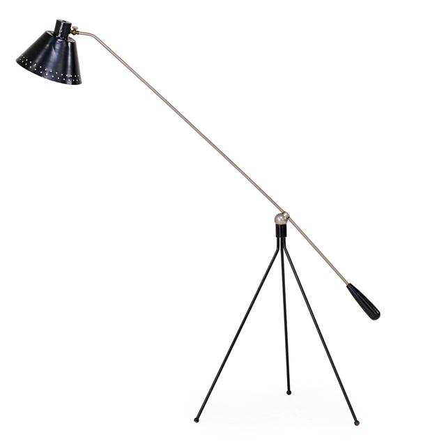 J.J.M Hoogervorst, 'Adjustable Ceiling Lamp, Netherlands', 1950s, Rago/Wright