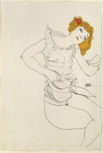 , 'Blond Girl in Underwear,' 1913, Richard Nagy Ltd.