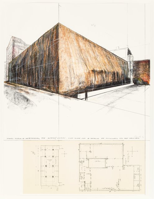 Christo, 'Wrapped Museum of Contemporary Art, Chicago (Project)', 1972, Heritage Auctions