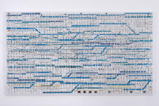 , 'Traffic 1801 Blue,' 2018, Micheko Galerie