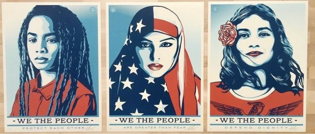 "Shepard Fairey, '""We The People""', 2017, New Union Gallery"