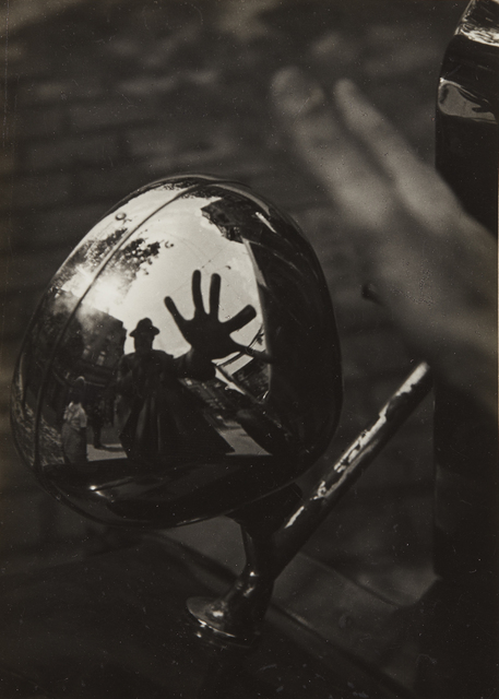 Imre Kinszki, 'Self-Portrait in Reflection of Car Headlight', circa 1934, Phillips