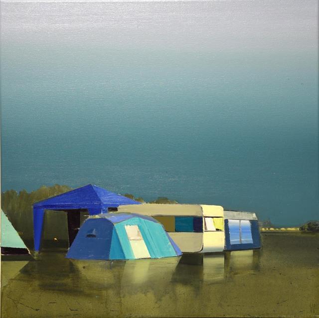 , 'Walchensee, blaue Landschaft,' 2015, AKINCI