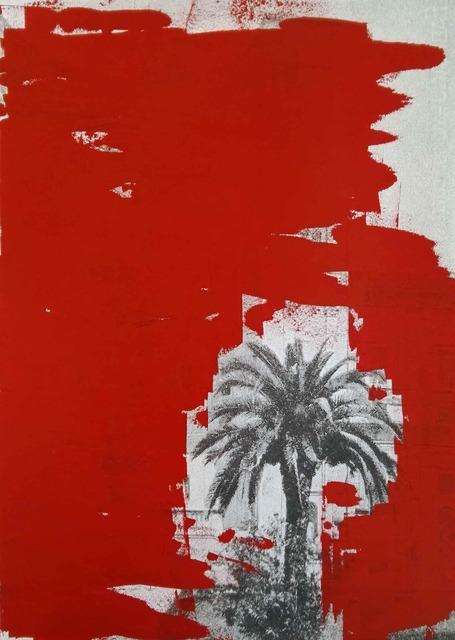 , 'Cancellature rosso scarlatto (le palme di Luca),' 2017, MATÈRIA