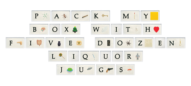, 'A B C Art (Low Relief), Part II:PMBWFDLJ (Pangram),' 2010, Mixografia