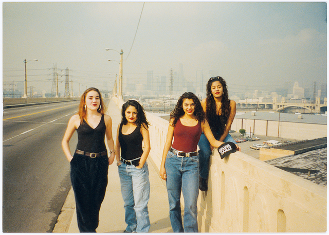 , 'Photographer unknown, Mind Crime Hookers party crew on 6th Street Bridge, Boyle Heights, 1993,' 1993, Cantor Fitzgerald Gallery, Haverford College