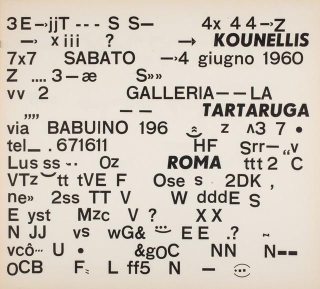 Jannis Kounellis, 'First solo exhibition', 1960, Finarte