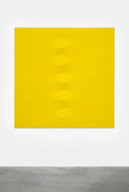 , 'Cinque ovali gialli,' 2014, Almine Rech