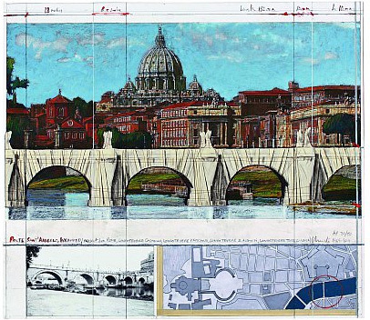 Christo and Jeanne-Claude, 'Ponte S. Angelo, Wrapped, Project for Rome', 2011, Schellmann Art