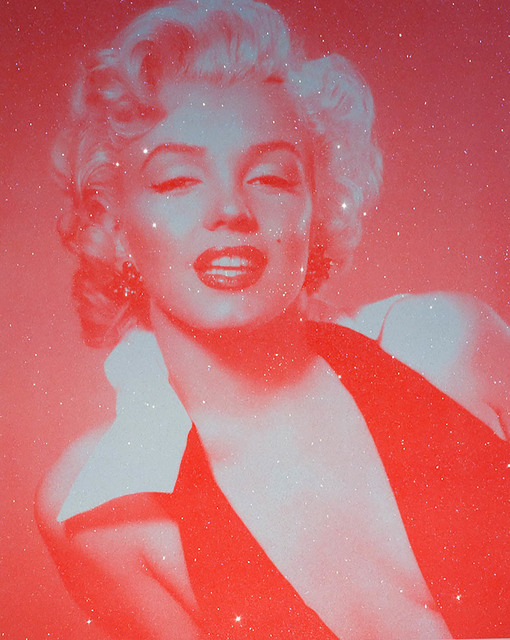 David Studwell, 'Marilyn Monroe, Neon Red', 2017-2019, Print, Screen print with hand embellished diamond dust, Tanya Baxter Contemporary