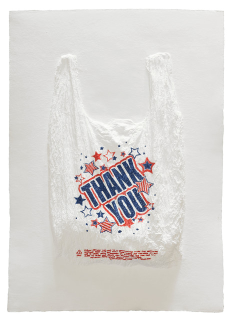 , 'THANK YOU Plastic Bag,' 2016, Mixografia