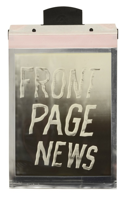 , 'Front Page News,' 2016, Taymour Grahne Gallery