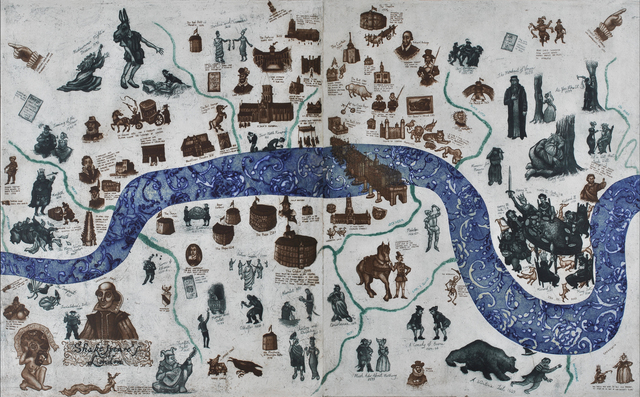 , 'A Map Of Shakespeare's London,' , Sarah Wiseman Gallery