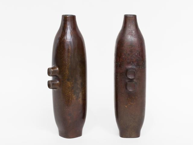 , 'Pair of Japanese Bronze Vases,' ca. 1950, Patrick Parrish Gallery