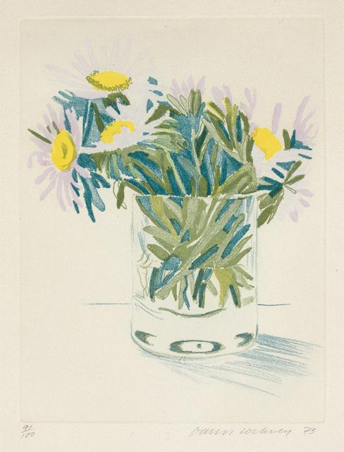 David Hockney, 'Marguerites', 1973, Phillips