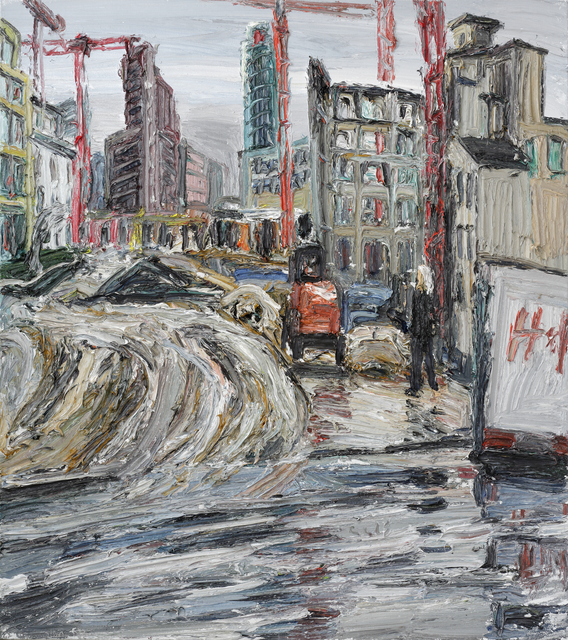 Christopher Lehmpfuhl, 'Leipziger Platz', 2013, Painting, Oil on canvas, GALERIE URS REICHLIN