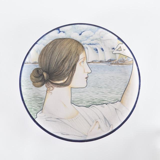 Galileo Chini, 'Arte della Ceramica, Plate', 1900, Design/Decorative Art, Majolica plate with polychrome enamel decorations., Finarte