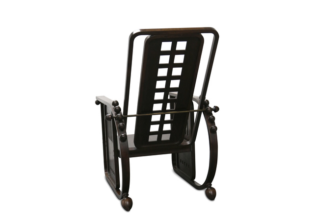 Josef Hoffmann, 'An early 20th century Sitzmaschine', Design/Decorative Art, With stained beechwood frame and plywood seat and back, with brass rod and hinges and adjustable back rest, Chiswick Auctions