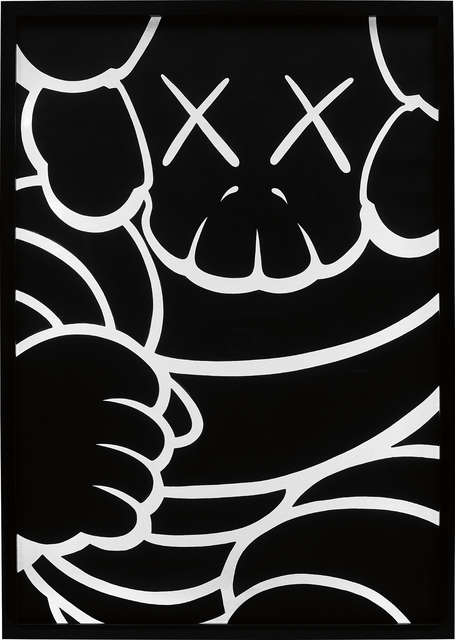 KAWS, 'Running Chum - Bus Stop', 2001, Painting, Acrylic on 850 gsm Arches paper, framed in rebuild Bus Stop Lightbox, Phillips