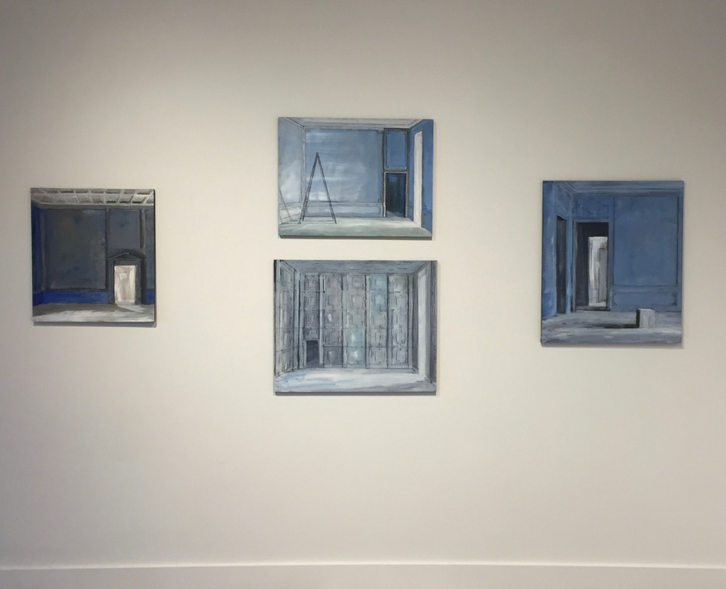 Installation View: Neoclassic Room - Ladder in Blue Room - Homage to Joseph Nash - White Cube