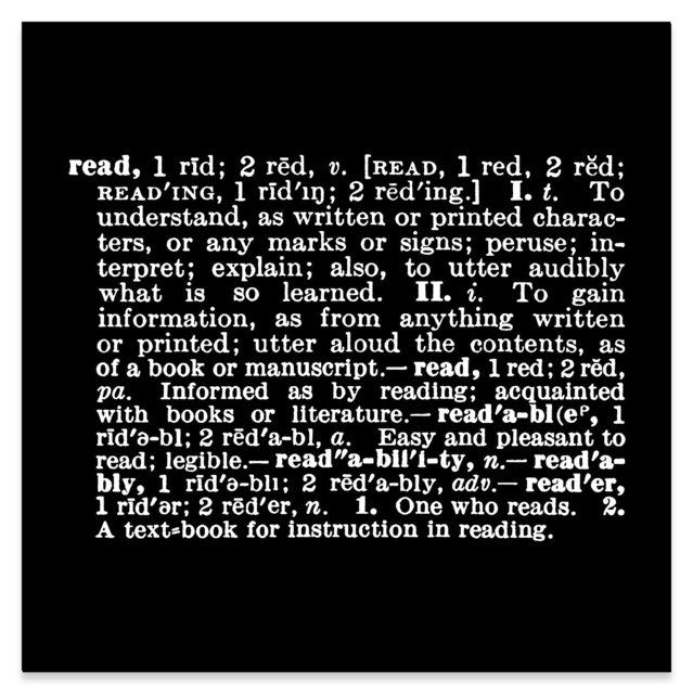 Joseph Kosuth, ''Titled [Art as Idea (as Idea]' [read] ', 1967, Sprüth Magers