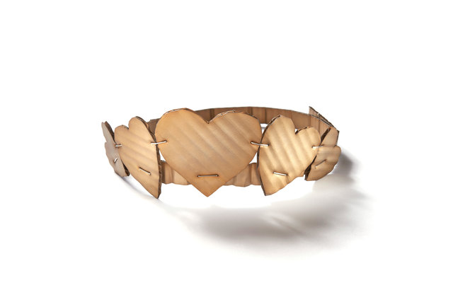 , 'Cardboard Hearts necklace / tiara,' 2015, Ornamentum
