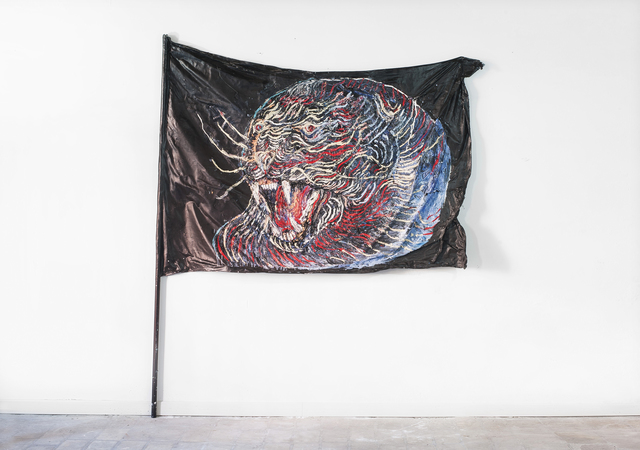 , 'Panther Flag,' 2016, White Noise Gallery