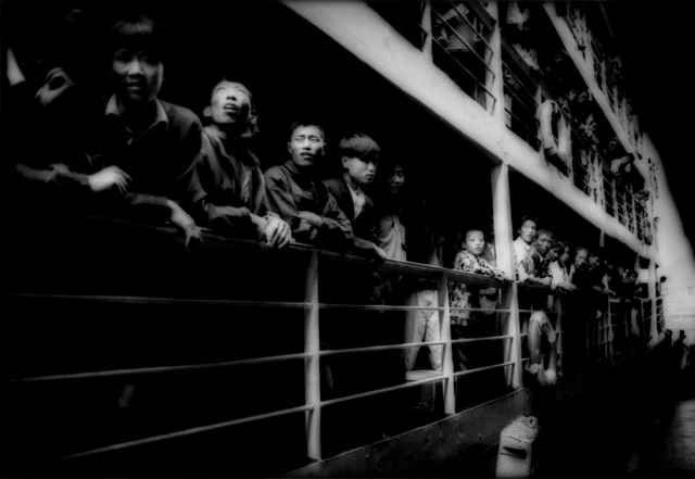 , 'Peasants crowding the rail of a river steamer, Three gorges, Yangtze River, China,' 1997, Sous Les Etoiles Gallery
