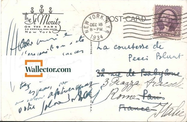 ", '""Successful in New York"" - Postcard by Dalì,' 1934, Wallector"