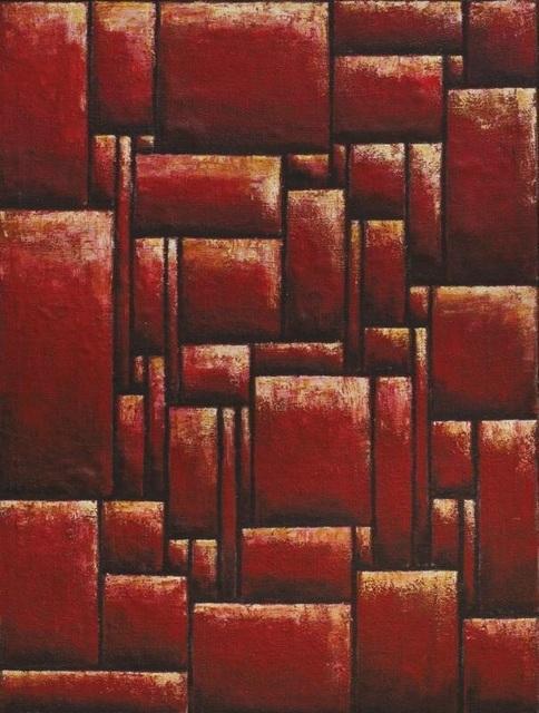 Emín Fernández, 'Constructive composition in red', Galería de las Misiones