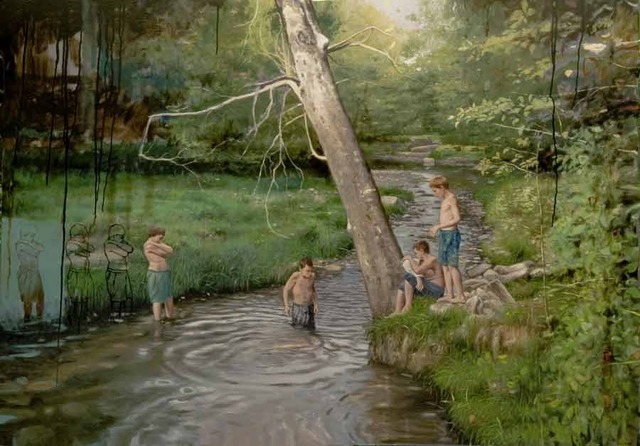 , 'Children in the River,' 2017, Wally Workman Gallery
