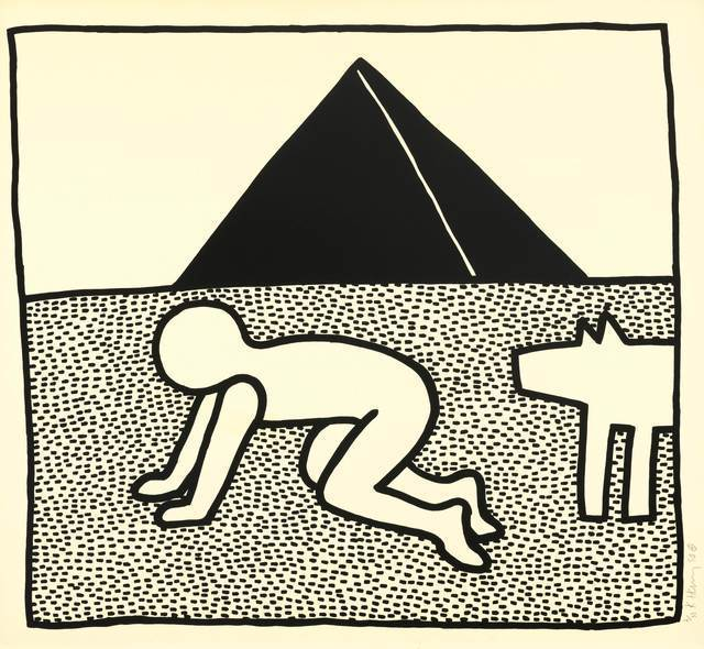Keith Haring, 'The Blueprint Drawings', 1990, Print, Screenprint on wove paper with full margins, ArtLife Gallery