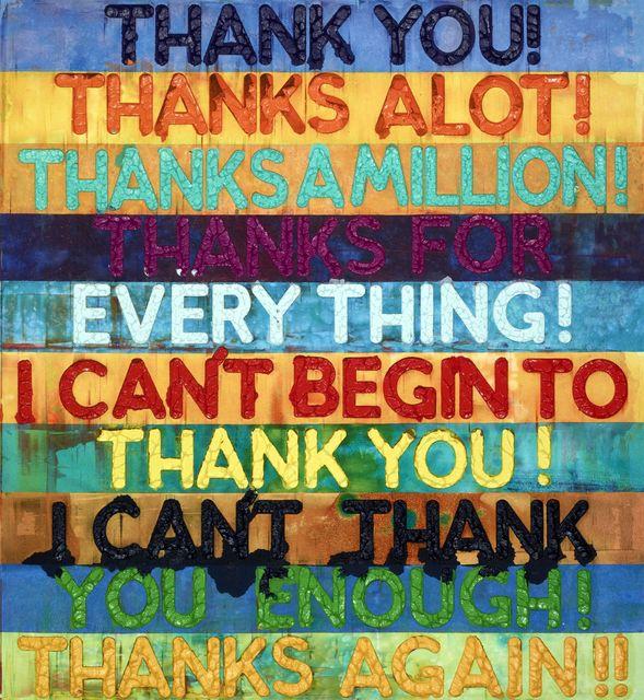 , 'Thank You! (MB4965),' 2016, Galerie de Bellefeuille