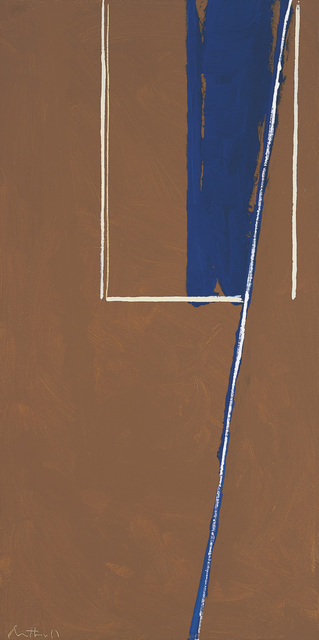 , 'In Blue and White on Umber,' 1970, William Shearburn Gallery